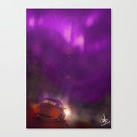the pink and violet Canvas Print