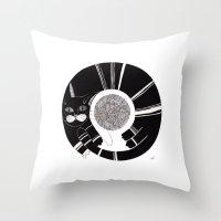 Cats Life: Playing Throw Pillow