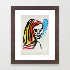 girl with a cigarette Framed Art Print