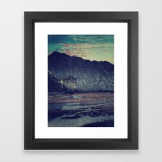 As the Day Fades in Keniku Framed Art Print