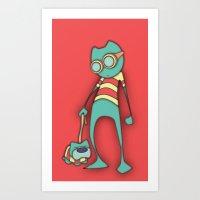GoggleCat Art Print