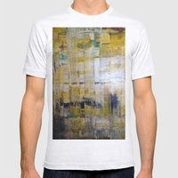 YELLOW SCRAPE Mens Fitted Tee Ash Grey SMALL