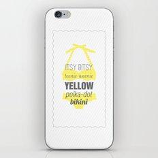 Yellow Polka Dot Bikini iPhone & iPod Skin