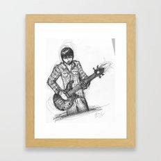 the player Framed Art Print