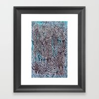 Snow Pines(Blue) Framed Art Print
