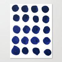 Blue Dots Canvas Print