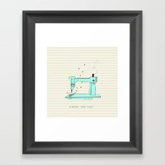 sew and stuff... Framed Art Print