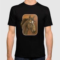 Sound Reason - Thoroughbred Stallion Mens Fitted Tee Black SMALL