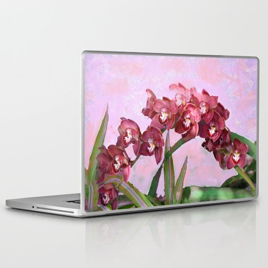 Spring Orchids Painting  Laptop & iPad Skin
