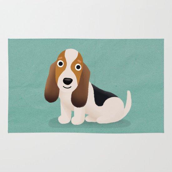 Basset Hound - Cute Dog Series Area & Throw Rug