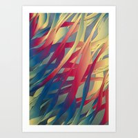 Modern Aquatic Nightsong… Art Print