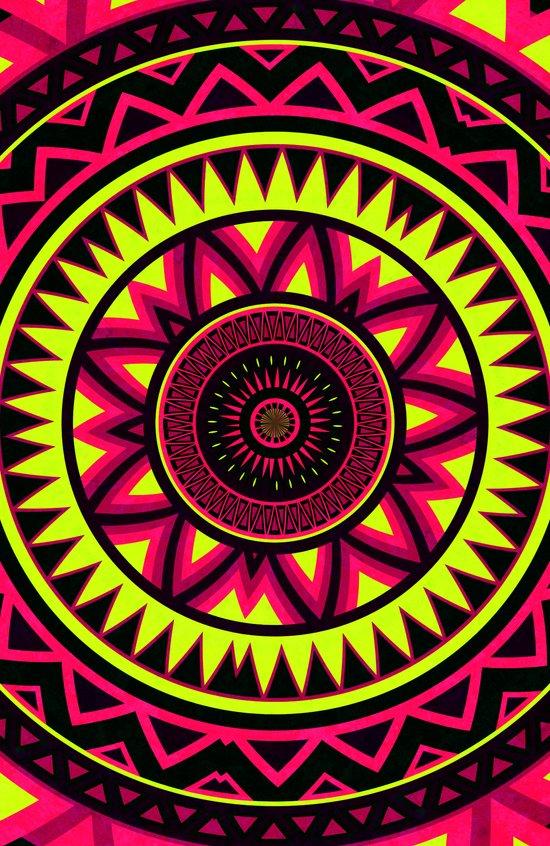 Mandala - Navajo dance Art Print