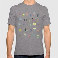 ABC colorful Mens Fitted Tee Tri-Grey SMALL