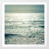 Shimmering Sea Art Print