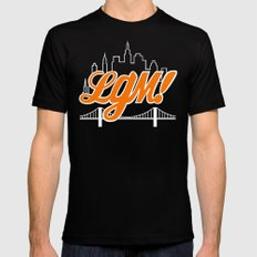 Let's Go Mets Mens Fitted Tee SMALL Black
