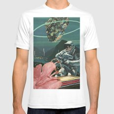 Midnight Ascent SMALL White Mens Fitted Tee