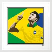 Neymar Brasil 2 Art Print