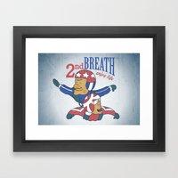Second Breath Framed Art Print