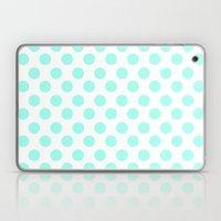 Mint Polka Dots Laptop & iPad Skin