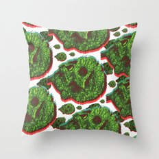 Plant skull  Throw Pillow