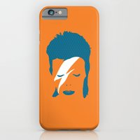 iPhone & iPod Case featuring Ziggy Stardust - Orange by Buchino