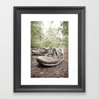 Shoes For A Decade, Not … Framed Art Print
