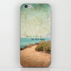 Come With Me to the Sea iPhone & iPod Skin