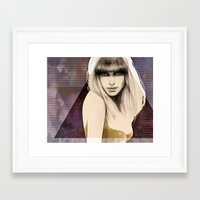 Eternal Lids Apart Framed Art Print