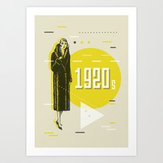 Lady Geometry Art Print