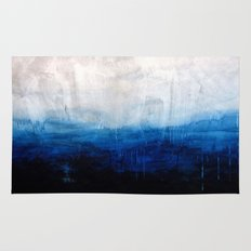 All good things are wild and free - Ocean Ombre Painting Rug