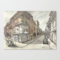Italy Sketchbook Canvas Print