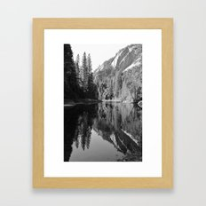 Yosemite In Black And Wh… Framed Art Print