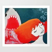 shark week dreams Art Print
