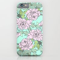 iPhone & iPod Case featuring Mint Flowers by Lilyana Reyes