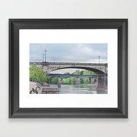 Dillingham Street Bridge Framed Art Print