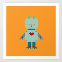 robot Art Prints featuring Robot by Milanesa