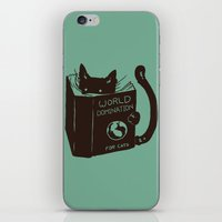 World Domination for Cats (Green) iPhone & iPod Skin