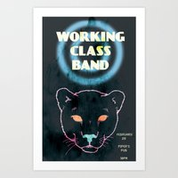 Working Class Panther, gig poster Art Print