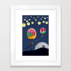 BALLOON NIGHT Framed Art Print