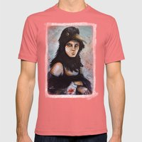 Raven girl Mens Fitted Tee Pomegranate SMALL