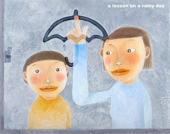 a lesson on a rainy day Art Print