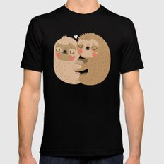 Sloth love SMALL Mens Fitted Tee Black