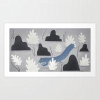weasel away.  Art Print