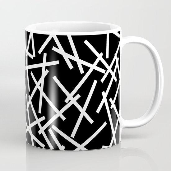 Kerplunk Black and White Mug