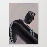Art Deco Lady Canvas Print