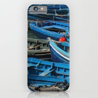iPhone & iPod Case featuring Blue Boats by Deesign