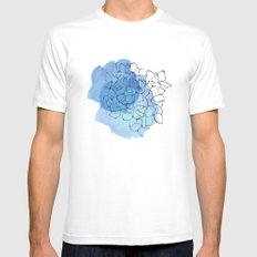 hydrangea Mens Fitted Tee SMALL White