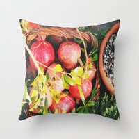 Autumn Apples Throw Pillow