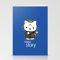 Stationery Card featuring Hello Barney by Mike Handy Art