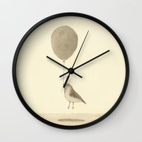 Bird With A Balloon Wall Clock